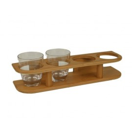 BAMBOO MARINE Support bois bamboo 4 verres Ø 77 mm