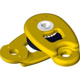 ANTAL Mini poulie ouvrante à sangler réa Ø32mm jaune ou noir