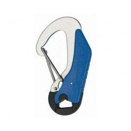 WICHARD Mousqueton double sécurité bleu 115mm