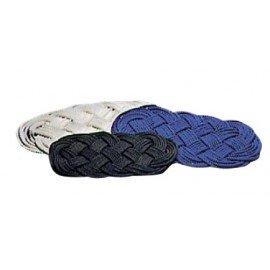 Paillassons En corde de nylon tressée main blanc 60 x 32