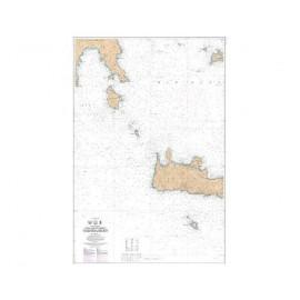 SHOM L7196 de Akra à Nisos Milos et Ouest Nisos Kriti