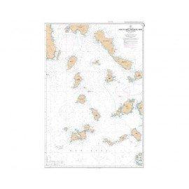 SHOM L7263 Iles Cyclades (Kikládhes Nísoi) - Partie Ouest