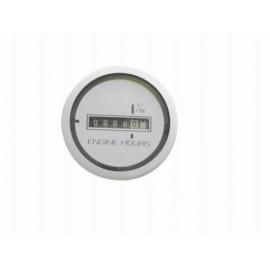 Horamètre blanc Ø 60.5mm