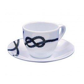 COULEUR MER Pacific tasse café et soucoupe