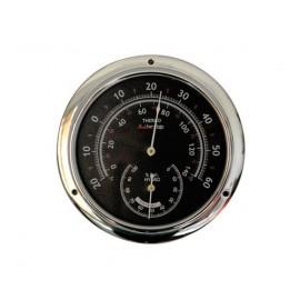Thermomètre hygromètre chrome 95mm