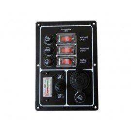 EUROMARINE Tableau électrique 3 interrupteurs