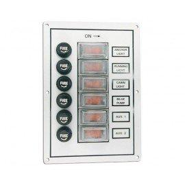 Tableau électrique de cabine 6 interrupteurs