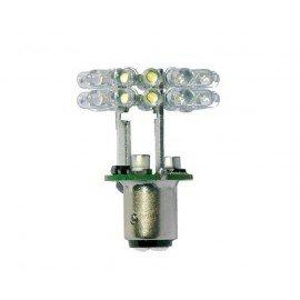 Ampoule 24 Led Ext. baïonettes blanc neutre 3MN 12-24V (BAY15D) 360°