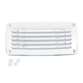 Grille aeration plastique rectangulaire blanche 206 x 106 mm