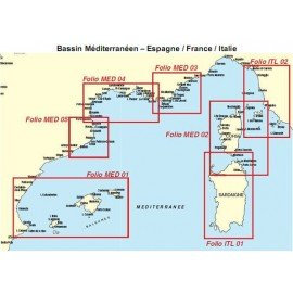 Cartes marines Chartkit MED-03 Zone Côte d'Azur