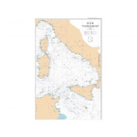 Carte SHOM L7292 de la Corse à la Sicile et au Cap Bon