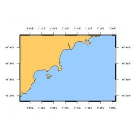Carte SHOM L7409 de la Rade d'Agay à Monaco