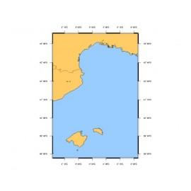 SHOM L7203 Des îles Baléares (Islas Baleares) à Marseille