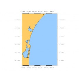 SHOM L6844 de Port-Barcarès à l'embouchure de l'Aude