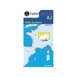 Navicarte Routier R2 Golfe de Gênes de Hyères à l'ile d'Elbe et Calvi