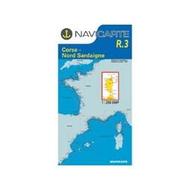 Navicarte Routier R3 Corse à Nord Sardaigne