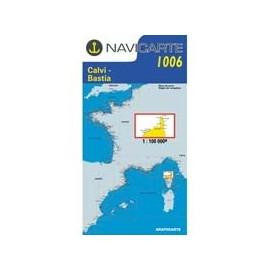 Navicarte Simple n°1006 Nord de la Corse : de Calvi à Bastia