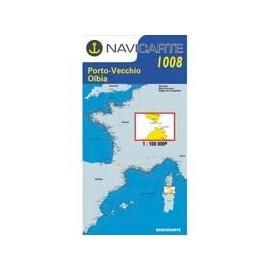 Navicarte Simple n°1008 Sud Corse / Nord Sardaigne : de Propriano à Bonifaccio et La Maddalena