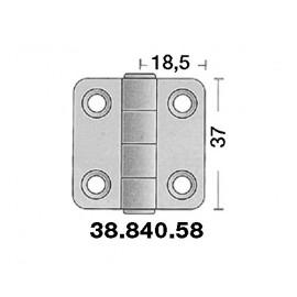 Charnière inox 37x37mm