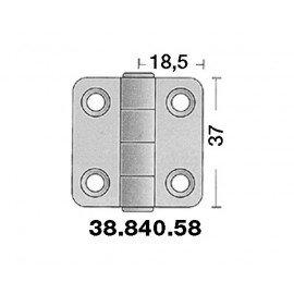 OSCULATI Charnière inox 37x37mm