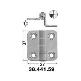 OSCULATI Charnière inox déportée 37x37mm