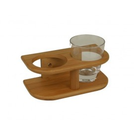 support deux verres bamboo