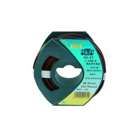 Cable électrique HiFi 2 x 0,75 mm² bobine de 25m
