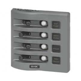 Tableau à disjoncteur 4 interrupteurs Blue sea