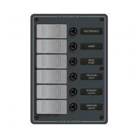 Tableau électrique à fusible 6 interrupteurs