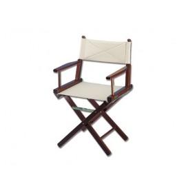 Chaise pliante bois acajou