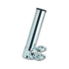 Porte canne réglable chromé pour tube de Ø 22 à 30mm