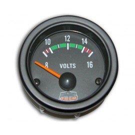 TREM Voltmètre noir 12V