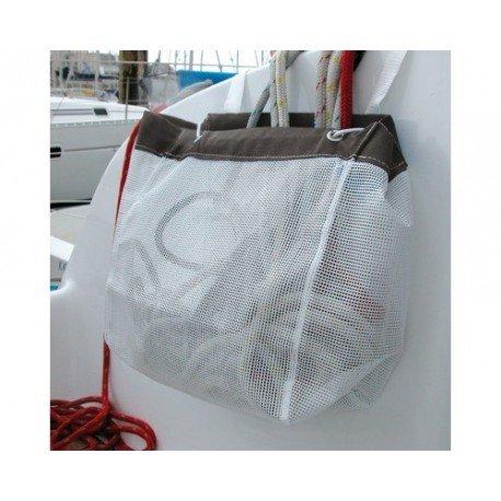Sac à drisse en grille PVC avec bande acrylique Sandow 40x30