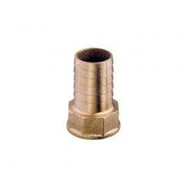 Raccord droit annelé femelle 1/4'-10mm
