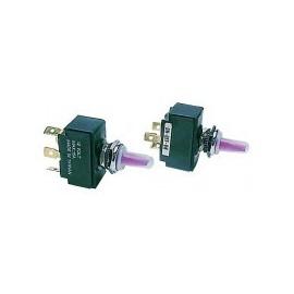 Interrupteur luminueux à levier on/off/on