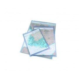 Pochette imperméable pour carte et règle de course 38 x 50 c