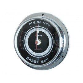 BIGSHIP Pendule de marée chrome 95mm