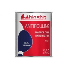 BIGSHIP Antifouling matrice dure Bleu marine 750ml