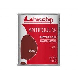 BIGSHIP Antifouling matrice dure Rouge 750ml