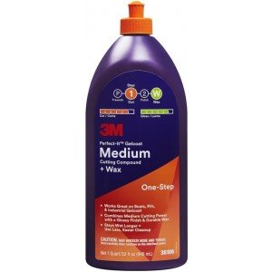 3M PERFECT IT Liquide à polir Medium & Wax (Bouchon orange)