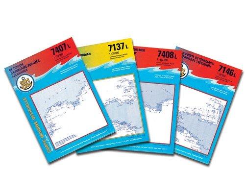 Carte SHOM serie L   du 7265 à 7663